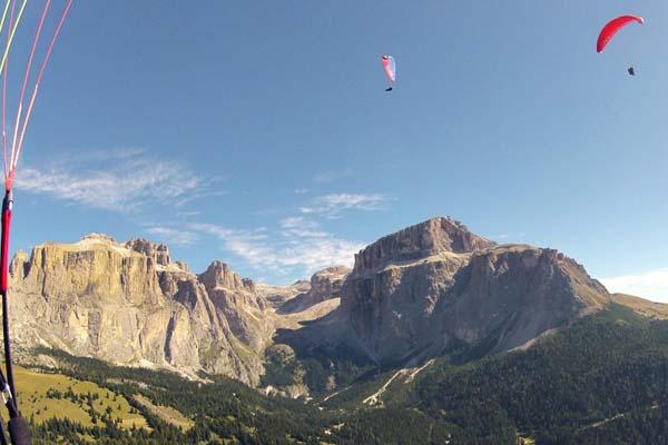 Paragliding Dolomieten trektocht