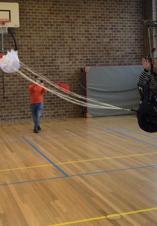 noodscherm werpen paragliden