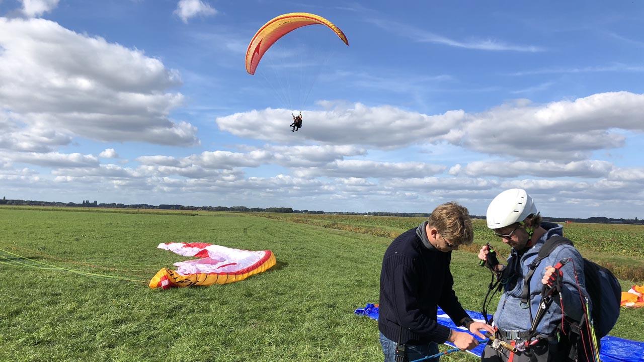 klaarleggen paragliding lier