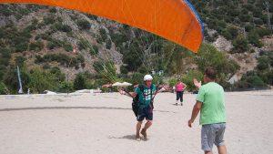 paragliding start in Turkije