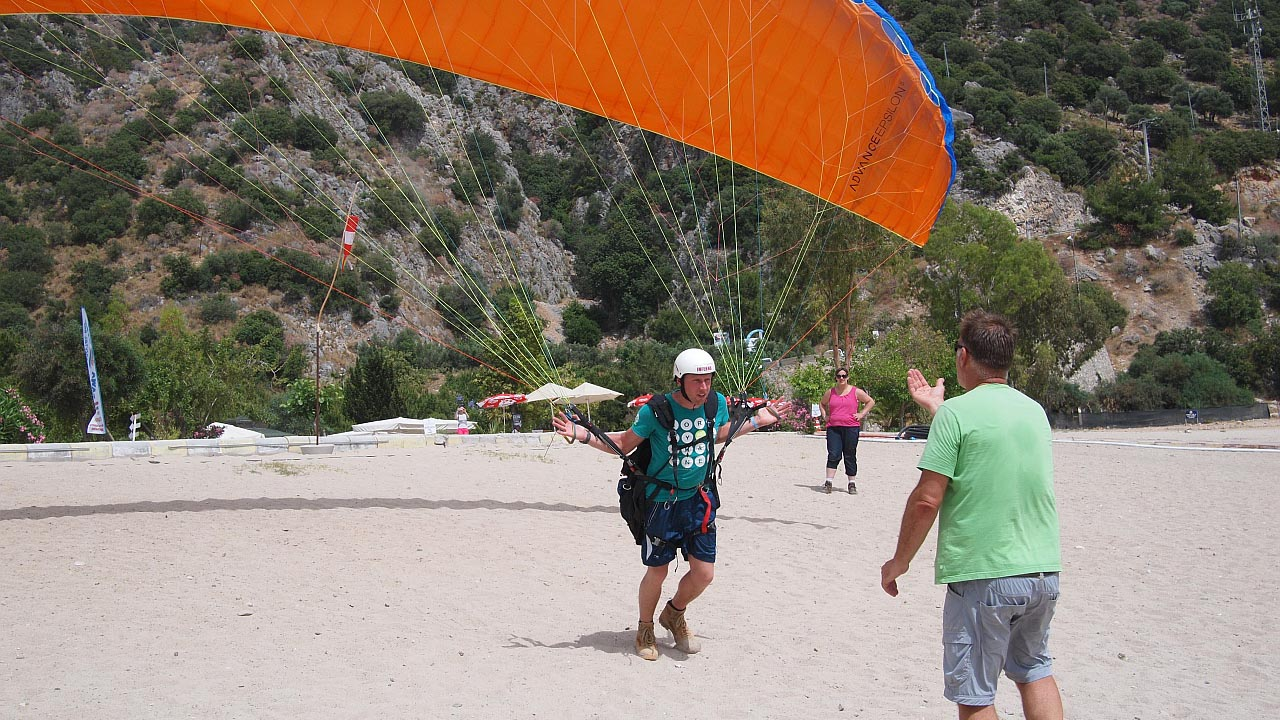 paragliding start in Turkije