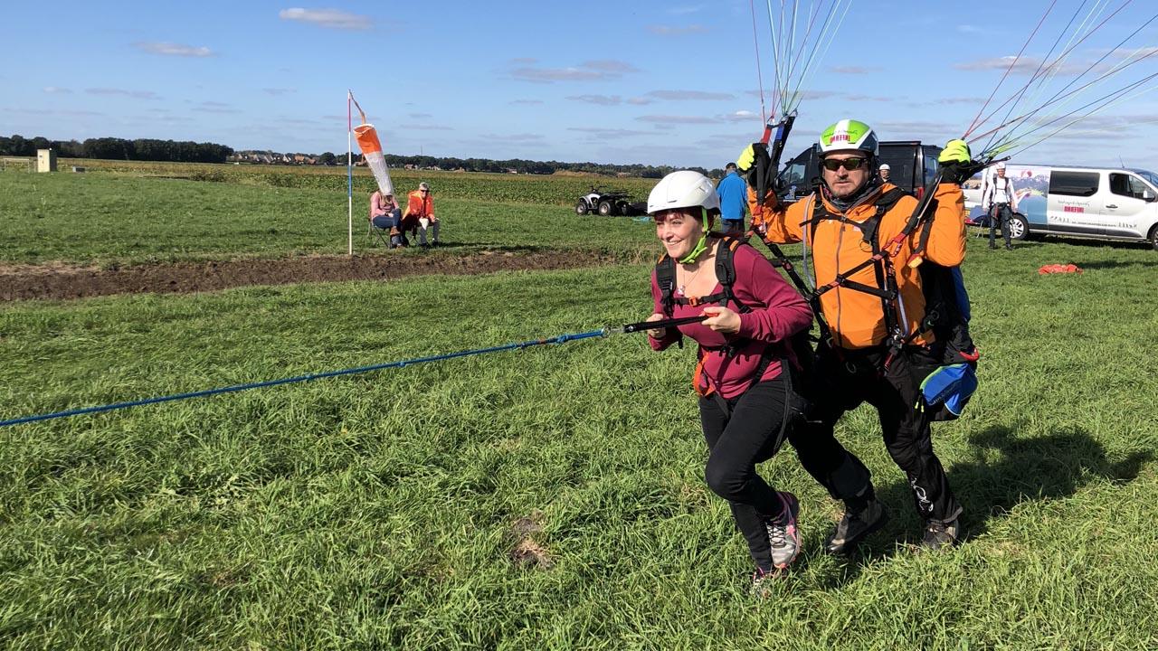 start tandem paragliding lier