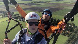 tandem paragliding in twente
