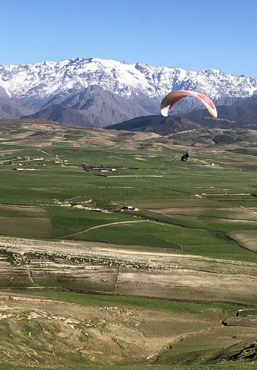 leren paragliding Atlas Marokko