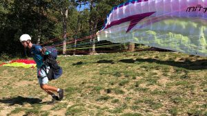 paragliden start Slovenië