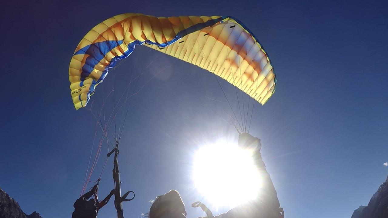 paragliden vlieguitrusting inklapper