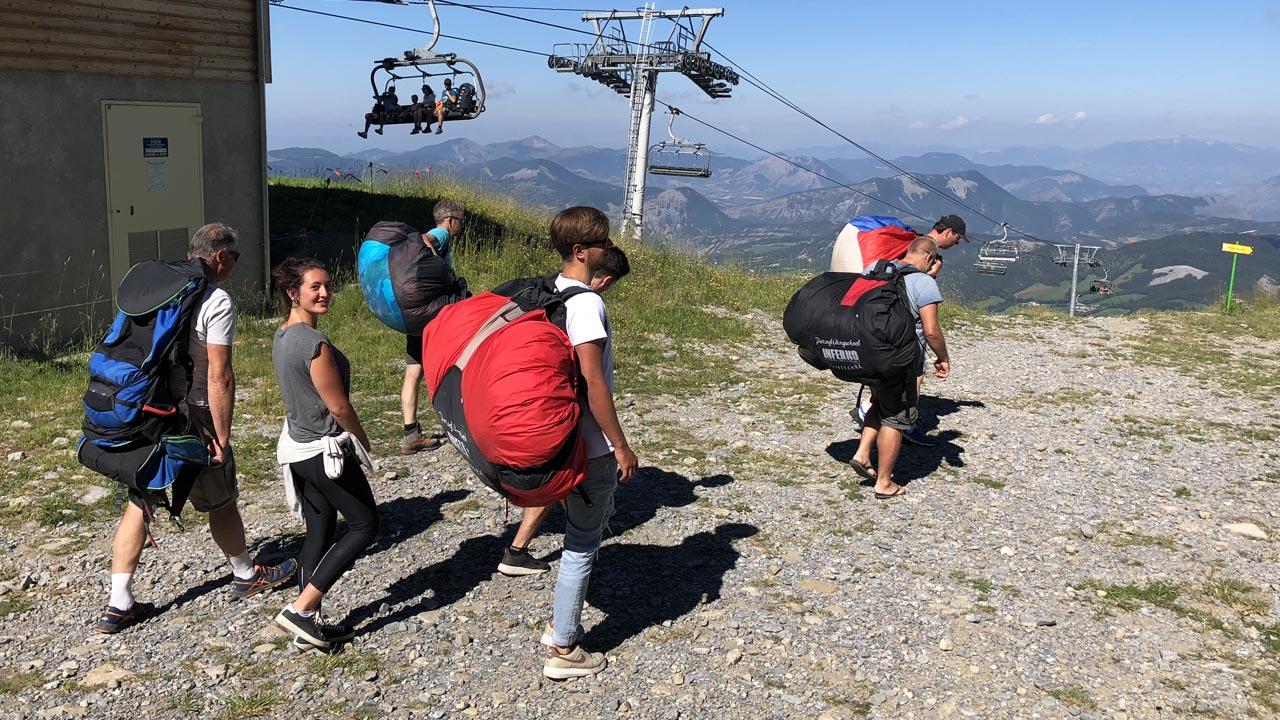 paragliding leren Frankrijk brevet 2