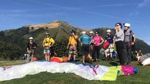 parawaiting paragliden Slovenie