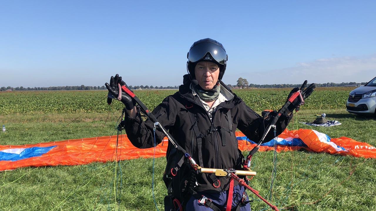 tandem paragliding vliegen start